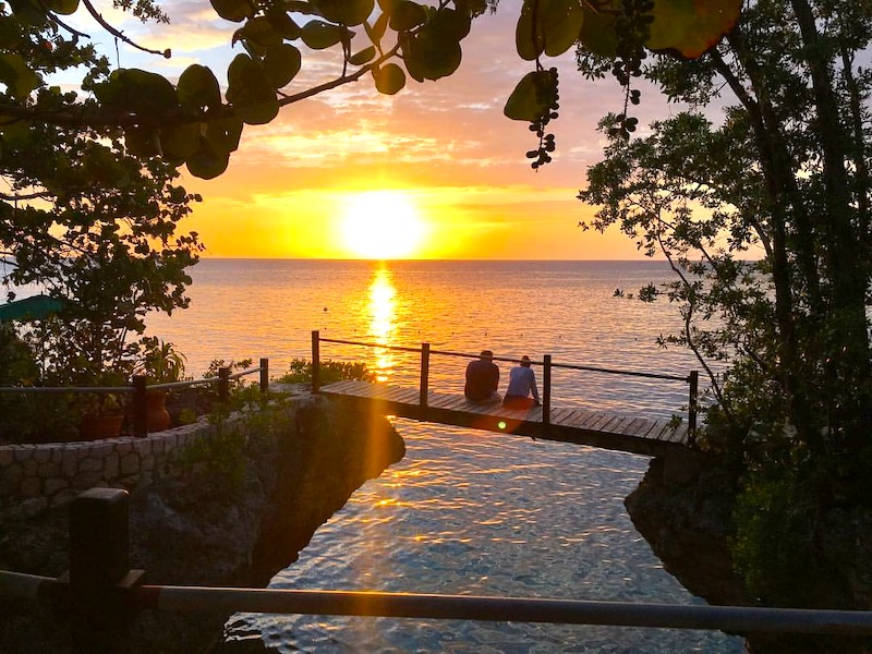 Sonnenuntergang in Jamaika