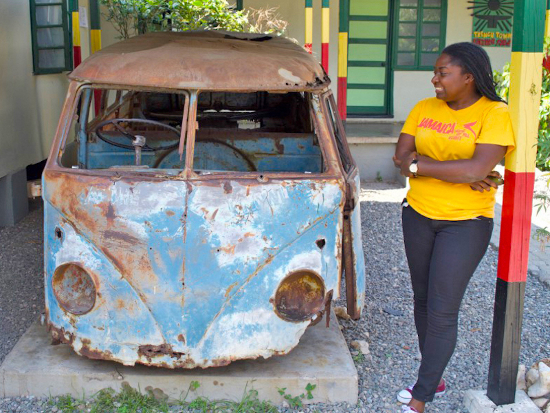 Culture Yard in Trenchtown Bob Marley VW Bus